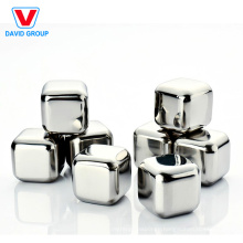 Certified Top Supplier Wholesale Custom Wine Gift Stainless Steel Ice Cube For Beverage