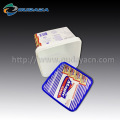 Customized cracker packaging square plastic container