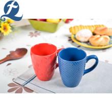 Custom Logo Printing Colorful Texture Ceramic Tea Coffee Mug