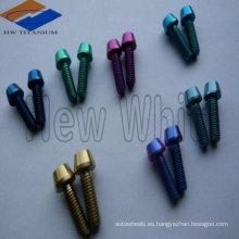 perno de cabeza cónica de titanio colorido DIN933