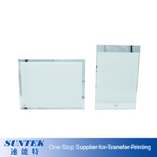 Hot Selling Wholesale Blank Sublimation Glass Photo Frame Printable Coated Picture Display Wedding Gift