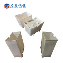 plastic injection garbage can mould, dust bin molds, trash bin molding