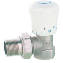 J340 Rosca macho manual Válvula de radiador de ángulo de latón PPR DN15