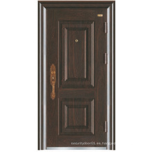 Panel de diseño simple puerta de acero de seguridad