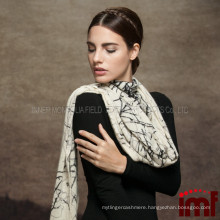 Elegant Printing Knitted 100% Cashmere Shawl