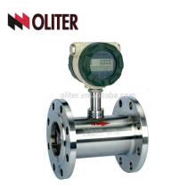 4-20ma saída pico de gás de leite medidor digital de fluxo de água medidor de vazão de turbina