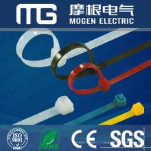Nouveau nylon 66 100 pcs attache-câbles avec étiquette