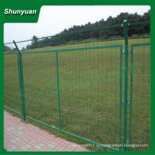 ПВХ покрытием рамы сварные железнодорожные ограждения / дороги стороне сварной сетки забор (завод)