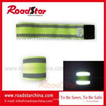 brazalete reflectante elástico de venta caliente para seguridad