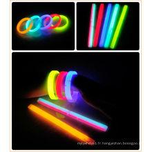 Bracelets lumineux colorés plats pour la partie en Chine en gros
