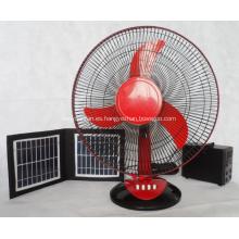 Ventilador de escritorio solar DC de 16 pulgadas