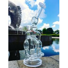 Vente en gros Hitman Quad Chamber Incycler Recycler Glass Water Pipe