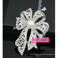 Último broche de cristal de la alta calidad del bowknot de la flor