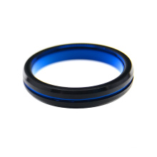 Fashion Classic Blue and Black Combined Color Tungsten Carbide Rings