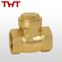 válvula de retención pequeña de latón de una manera Latón de 3/4 para compresor de aire