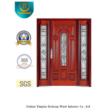 Classic Style Security Door with Glass and Iron (B-9008)