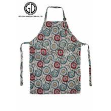 El mejor diseño flor patrón de cocina delantal del artista con hebilla ajustable