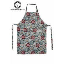 Best Design Flower Pattern Kitchen Artist Aprons with Adjustable Buckle