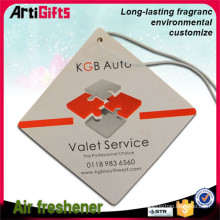 Cheap wholesale paper car air freshener hanging car perfume card