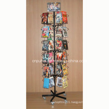 Floor Standing Revolving DVD Display Rack (PHY257)