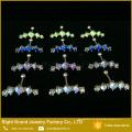 Mode Mond Form Ohr Tragus Knorpel Prong Set Opal Helix Ohrring