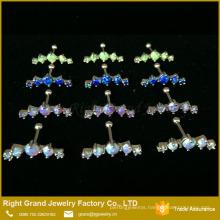 Fashion Moon Shape Ear Tragus Cartilage Prong set Opal Helix Earring