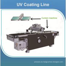 Línea de pintura ultravioleta de la placa del MDF / máquina de revestimiento del rodillo ULTRAVIOLETA para el tablero brillante del mdf