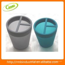 Accesorio de baño de taza de cepillo de dientes de plástico