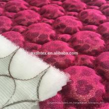 hoja tela quilting de encaje, bordado acolchado tela para la ropa de la hoja