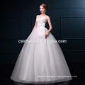 Vestidos de novia de organza elegante más nuevo del diseño del neckline del amor