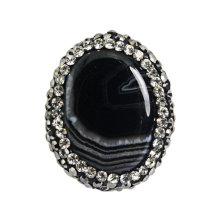 Bague de bijoux obsidienne en usine à l'usine 25 * 20mm