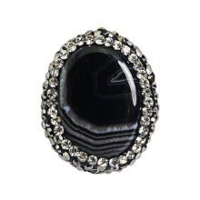 Factory Sale Obsidian Jewelry Bead 25*20mm