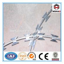 Haute qualité Faible prix Galvanisé Concertina Razor Barbed Wire