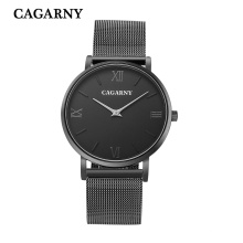 Black Net Band Wristwatch for Unisex