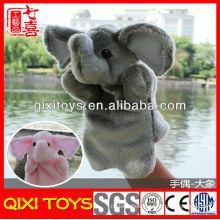 Custom kids hand puppet for kids plush elephant hand puppet