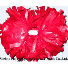 Plastique rouge POM POM