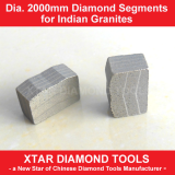 Dia.2000mm Granite Segments Stone Cutting Tools