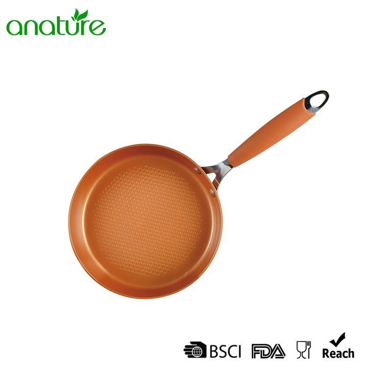 Pressed Copper Aluminum Titanium Ceramic Fry Pan