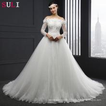 SL-041 manches longues sur la robe de mariée en dentelle robe de mariée 2016