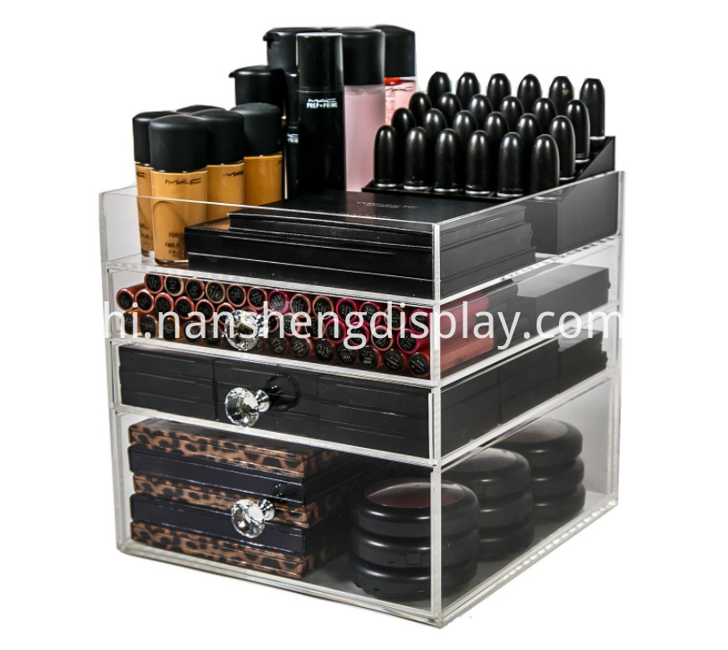 Acrylic 3 Drawers Makeup Storage