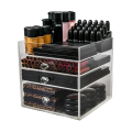 Acrylic 3 Drawers Makeup Storage Organizer Cube