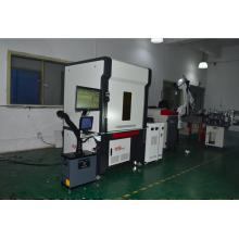 Máquina de solda de acoplamento de fibra óptica de dupla estação tipo pórtico