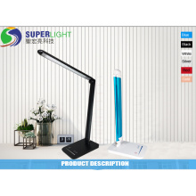 Escurecimento de lâmpada de mesa elegante para escritório com porta de carga USB