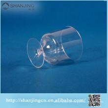 vidros de vinho plásticos da venda quente 6.2oz do produto comestível
