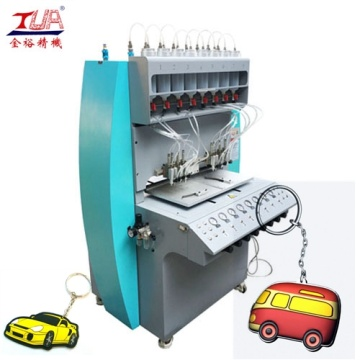 high output PVC plastic keyring tags machine