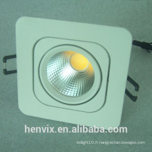 220v CRI> 80ra rectangulaire 10w led encastré downlight