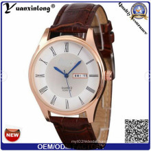 Yxl-515 Hot Sale Italian Leather Double Watch Strap Custom Watch with Japan Movt