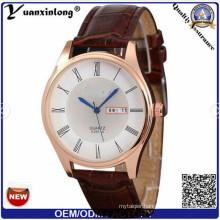 Yxl-391 2016 Factory Brand Custom Date Calendar Men Watch Leather Japan Movement Business Watches