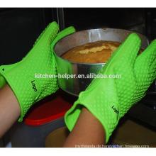 Großhandel Qualitäts-Küche Kochen Ofen Silikon BBQ Hitzebeständige Küche Handschuhe / Silikon Grill Ofen BBQ Handschuh / Ofen Mitt