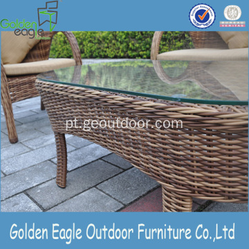 4pcs Outdoor Leisure Rattan Sofa com mesa